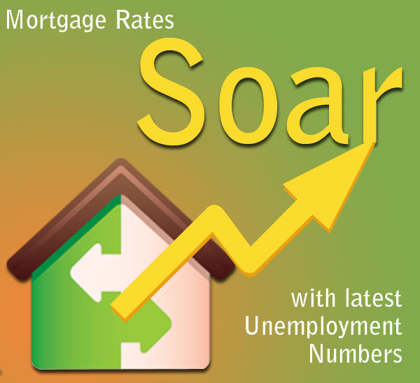 Mortgage Rates Soar with latest Unemployment Numbers